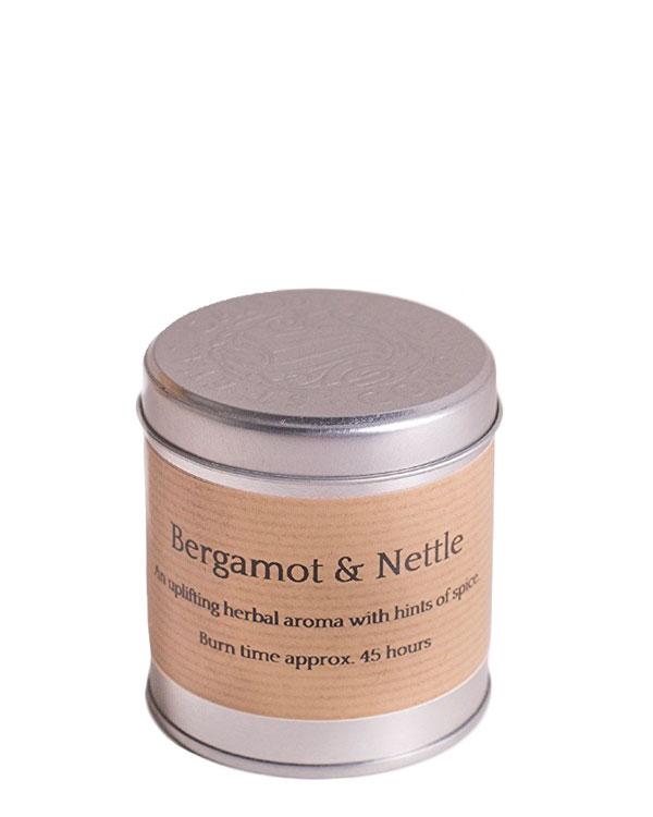 Bergamot and Nettle Tin Candle