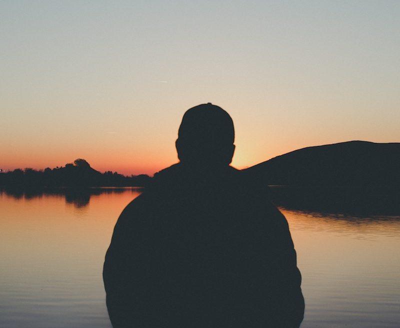 spiritual person sunset