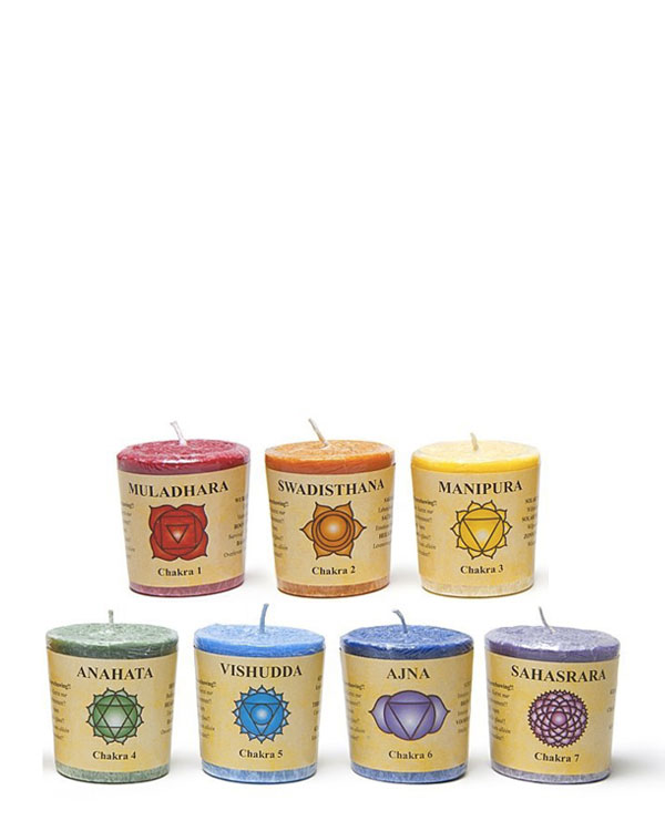Votive Chakra Scented Candles
