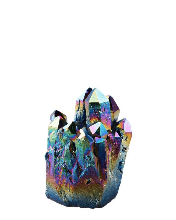 Rainbow Titanium Coated Crystal