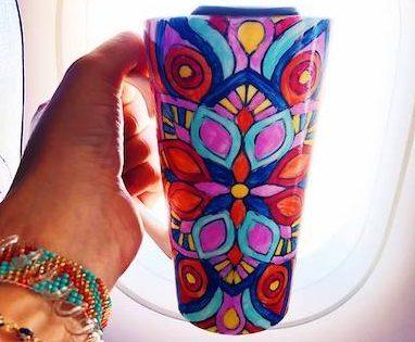 mandala meditation cup