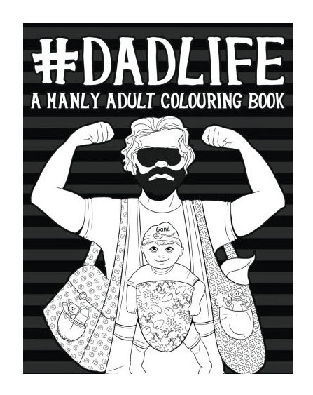 gift ideas dad life manly adult colouring book