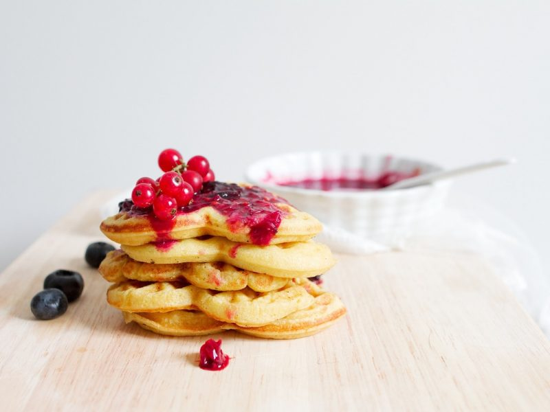 valentines keto waffles